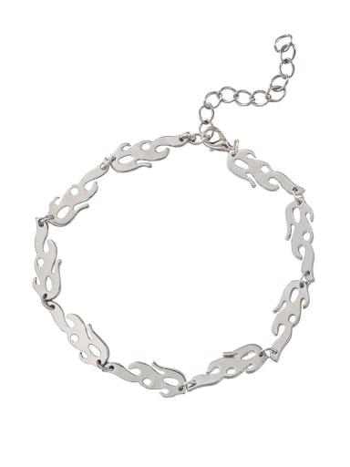 Bracelet Titanium Steel Hip Hop Irregular  Earring Braclete and Necklace Set