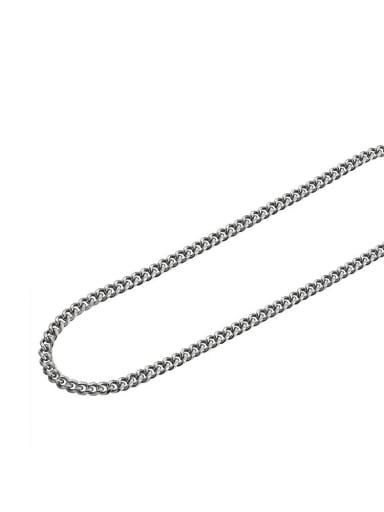 Steel color (6mm*45cm)* Titanium Steel Geometric Minimalist Necklace