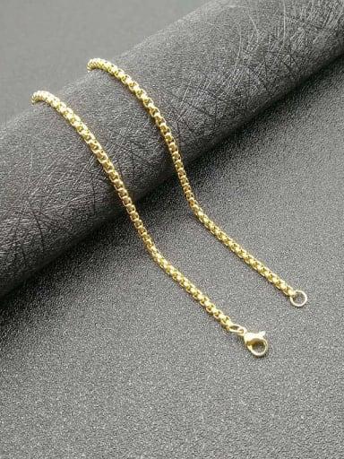 gold:3mm*61cm Titanium Steel Cubic Zirconia Enamel Heart Vintage Necklace