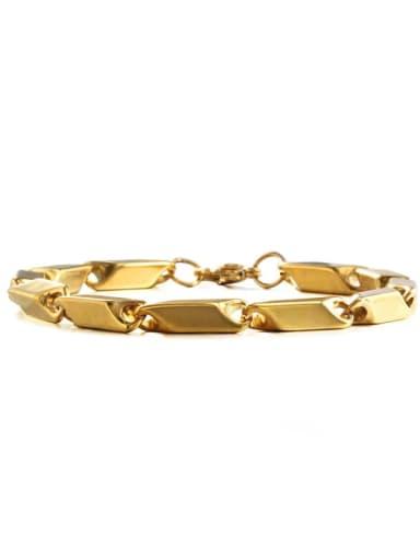 Gold (5mm*20cm) Titanium Steel Irregular Hip Hop Bracelet