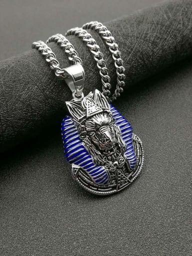 Titanium Steel Enamel Irregular Vintage Necklace