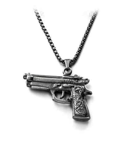 Antique S (chain length 66cm) Titanium Steel Irregular Hip Hop Necklace