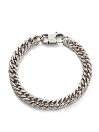 Vintage color (8mm*21cm) Titanium Steel Irregular Hip Hop Link Bracelet