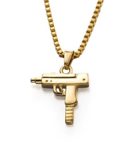 golden Titanium Steel Irregular Hip Hop Necklace