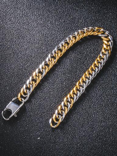 Titanium Steel Irregular Hip Hop Link Bracelet