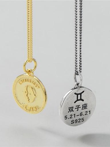 Gemini (single pendant) 925 Sterling Silver Constellation Minimalist Necklace