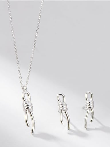 925 Sterling Silver Bowknot Minimalist Necklace