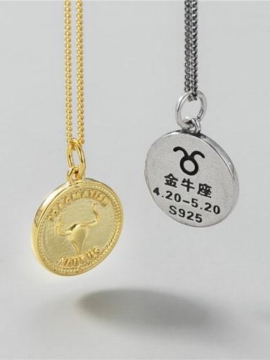Taurus (single pendant) 925 Sterling Silver Constellation Minimalist Necklace