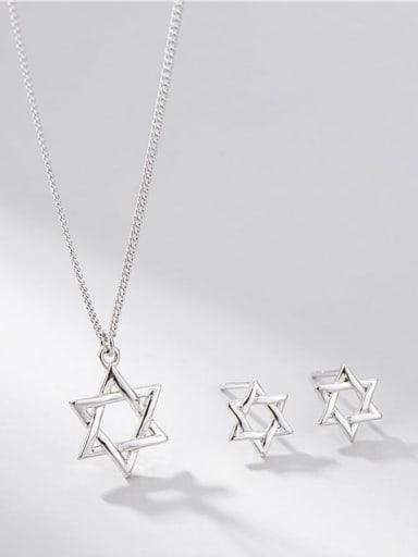 925 Sterling Silver Star Minimalist Necklace