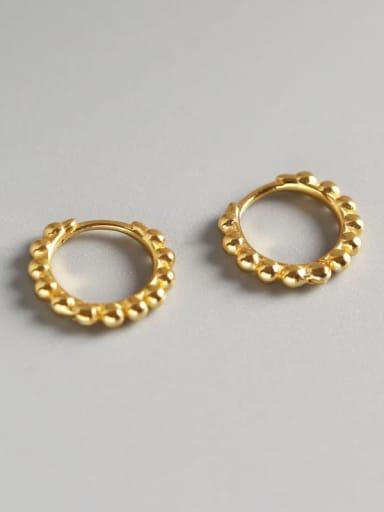 4#Large gold 925 Sterling Silver Geometric Minimalist Huggie Earring