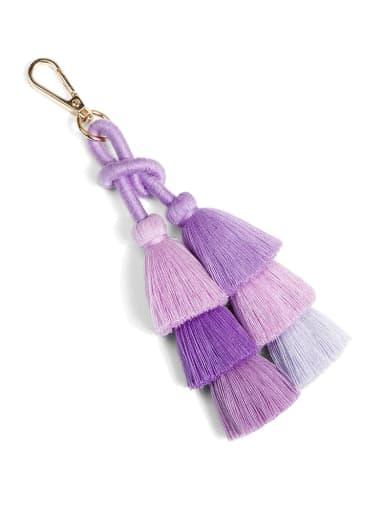 K68182 Alloy Shell Cotton Rope Tassel Bohemia Hand-Woven Bag Pendant