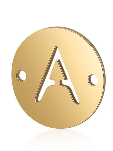 Stainless steel Imitation Gold Plated Message 12mm Charm