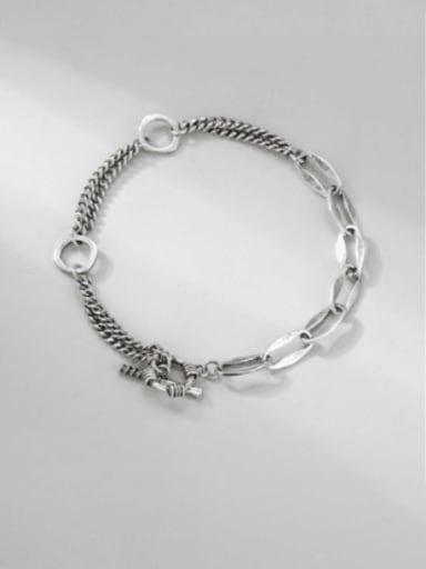 925 Sterling Silver Irregular Vintage Strand Bracelet