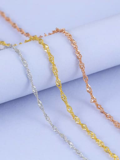 925 Sterling Silver Lengthen Singapore Chain