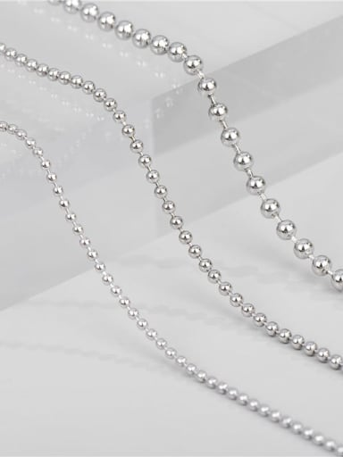 1.5mm ball chain 55cm 4.2g 925 Sterling Silver Round Minimalist Bead Chain