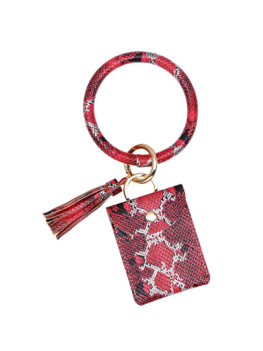 K68170 Alloy Leather Serpentine Coin Purse Hand ring/Key Chain