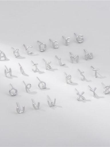 D single 925 Sterling Silver Letter Minimalist Single Earring