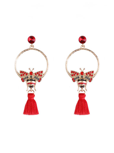 Alloy Cotton Rope Tassel Bohemia Hand-Woven Drop Earring