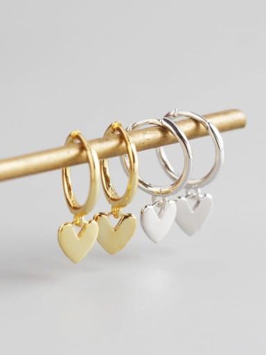 925 Sterling Silver Heart Trend Huggie Earring