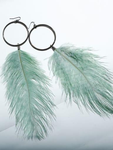 E68157 Alloy Feather Bohemia Hand-Woven Drop Earring