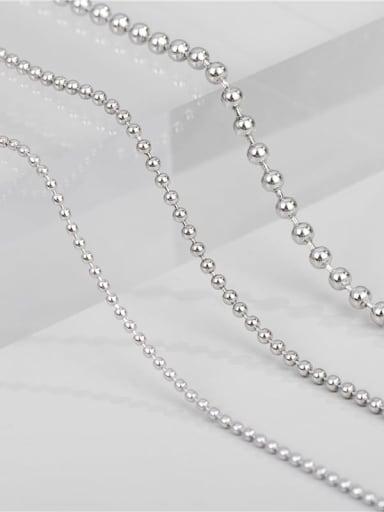 1.5mm ball chain 50cm 4g 925 Sterling Silver Round Minimalist Bead Chain