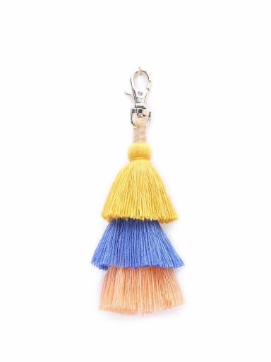 K68047 Alloy Cotton Rope Tassel Bohemia Hand-Woven Bag Pendant