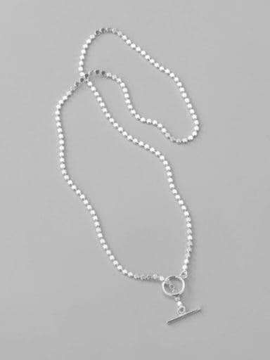 925 Sterling Silver Round Minimalist Necklace