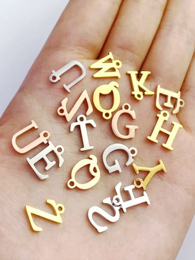 Stainless steel 26 letters pendant 10MMx12MM