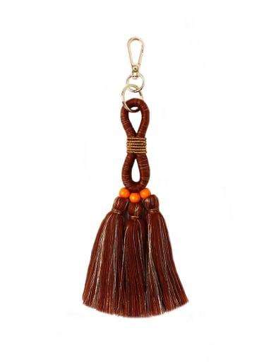 Alloy Bead Cotton Rope  Tassel Hand-Woven Bohemia Bag Pendant