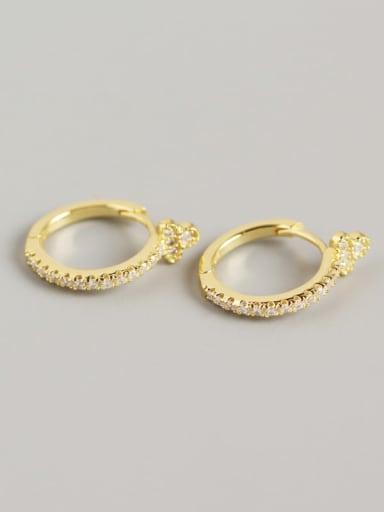 925 Sterling Silver Cubic Zirconia Multi Color Geometric Trend Huggie Earring