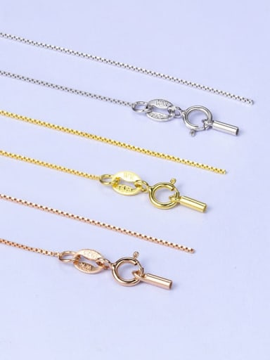 925 Sterling Silver Box Chain With Tube