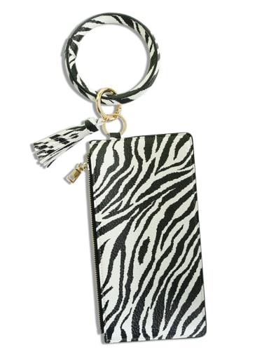 Zebra k68201 Alloy PU Mobile phone bag Wrist Key Chain