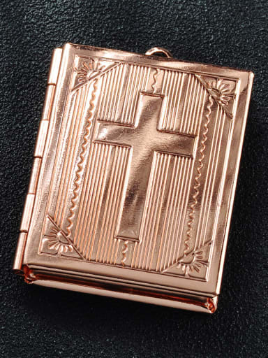 Rose Gold Copper Charm Height : 27.2mm , Width: 39.2mm