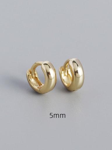 5mm gold 925 Sterling Silver Geometric Minimalist Huggie Earring