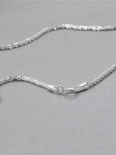 45cm upgrade 925 Sterling Silver Minimalist Twisted Serpentine Chain