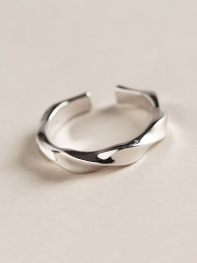 925 Sterling Silver Geometric Minimalist Band Ring