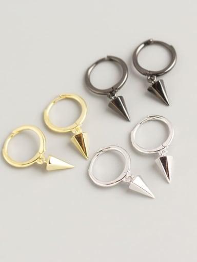 925 Sterling Silver Geometric Trend Huggie Earring