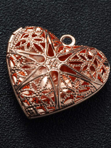 Rose Gold Copper Heart Charm Height : 25.5mm , Width: 26mm