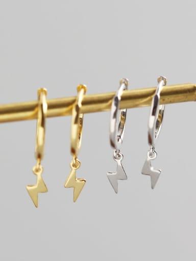 925 Sterling Silver lightning Trend Huggie Earring