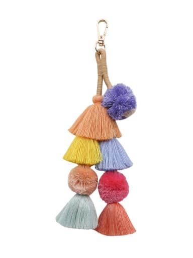 Alloy Cotton Rope Tassel Hand-Woven Artisan Bag Pendant