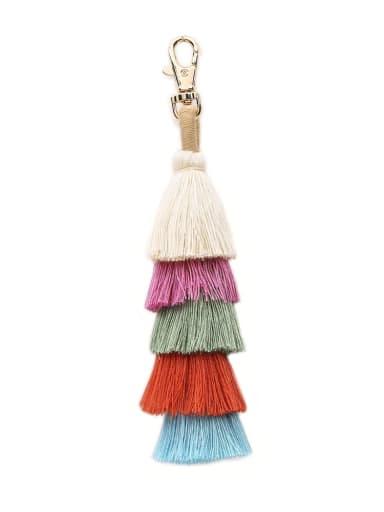 Alloy Cotton Rope  Tassel Artisan Hand-Woven Bag Pendant