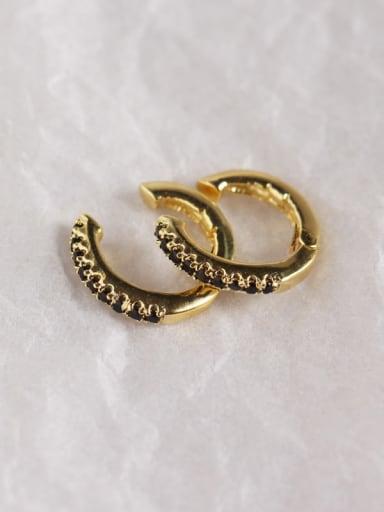 2#Gold 925 Sterling Silver Rhinestone White Geometric Dainty Clip Earring