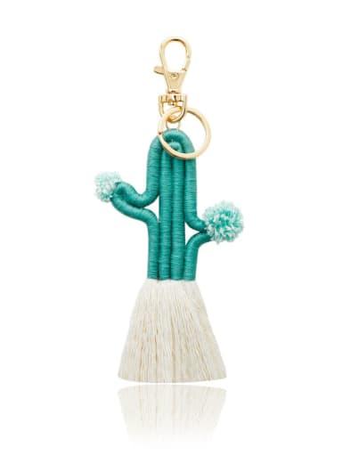 K68234 4 Alloy Cotton Cactus Cute Hand-Woven Key Chain/ Bag Pendant