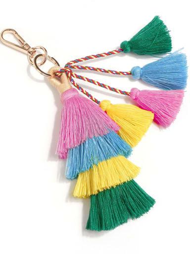 Pastel k68105 Alloy Cotton Rope Tassel Bohemia Hand-Woven Bag Pendant