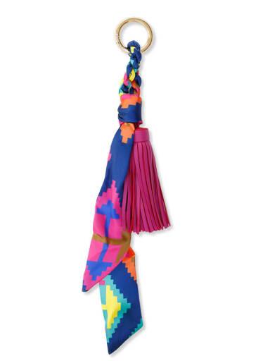 Alloy Silk Leather Tassel Artisan Hand-Woven Bag Pendant