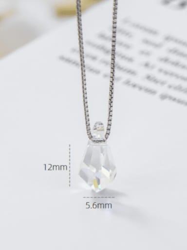 Water drop sugar 925 Sterling Silver Swarovski Crystal Multi Color Geometric Minimalist Necklace