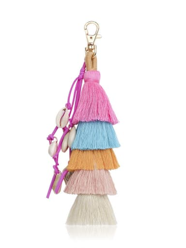 K68097 Alloy Conch Cotton Rope Tassel Bohemia Hand-Woven Bag Pendant