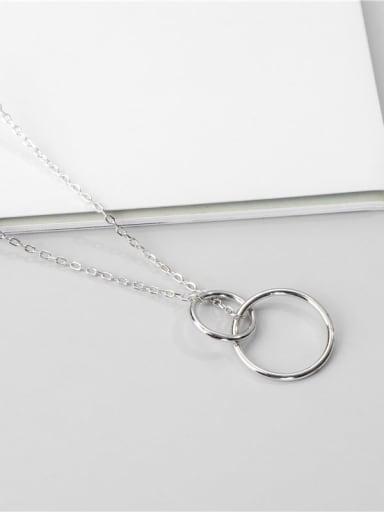 Platinum necklace 925 Sterling Silver Geometric Minimalist Necklace