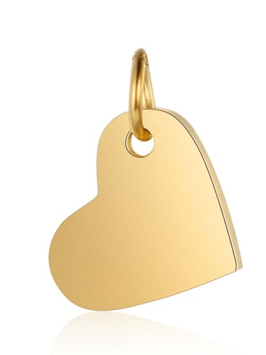 XT618 2 Stainless steel Heart Charm Height :10.5mm , Width: 14 mm