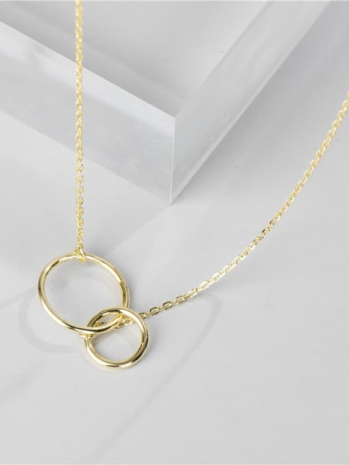 Gold necklace 925 Sterling Silver Geometric Minimalist Necklace